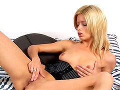 Arousing blonde likes to get naughty