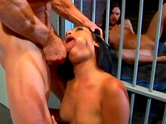 Horny babes are sharing in prison