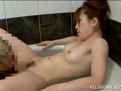 Cheating Wife Shares Oral With A Guy In The Bathtub