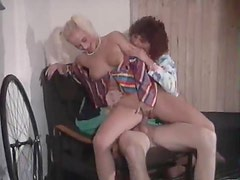 Classic fuck where he does milf and teen