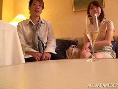 Nice Yuki Mizuhoshi gets pounded and jizzed on her boobs