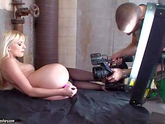 Hot and sensual blonde Lena Cova enjoys in having a