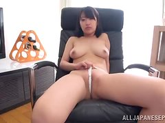 Mari Nitta is a filthy Japanese office solo girl