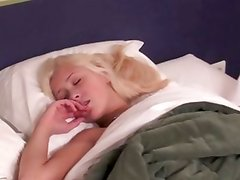 Hairy dude wakes blonde babe to fuck