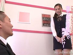 Sweet Japanese teen rides a dick and gets a facial