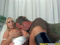 Hunky and horny lad with a fetish for mature women
