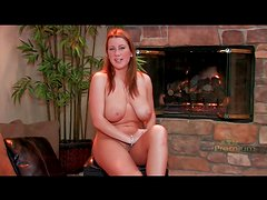 Curvy girl with big tits sits solo and talks