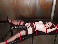Emily Marilyn tied in a dirty dungeon
