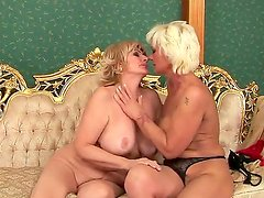 Two mature blondes Orhidea and Sally G. were playing