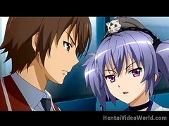 Adventure and foreplay in hentai video clip