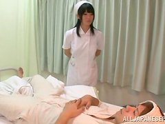 Kinky nurse gives herself to her dying patient