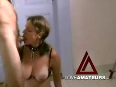 Kinky wife rides a toy and sucks his hard dick