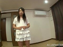 Playful Asian teen loves having sex to death