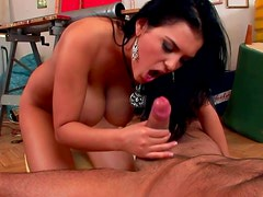 Jasmine Black gives a sloppy deepthroat blowjob
