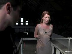 Poor Lilla Katt get tied up, whipped and toyed