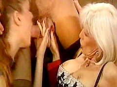 Pierced blonde milf pussy is fisted