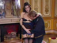 Elegant European gives him her pussy