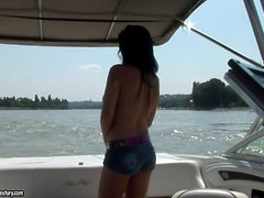 Danube trip with busty brunette honey Aletta
