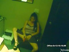 Toy fucking chick in the office