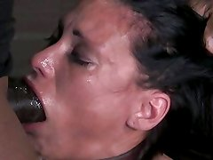 Deep throating in the dungeon