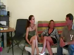FRENCH CASTING n47 2 french couples in party sex