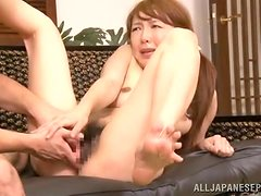 Sudden seductions in the living room by a naughty asian doll
