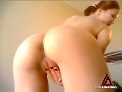 Ass tease and anal toy sex on webcam