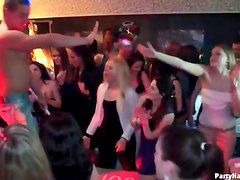 Arousing women fill this club where they dance