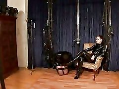 German Mistress Silvia Trains He...