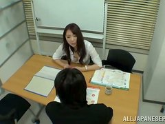 Lovely Japanese office girl gets fucked by her coworker