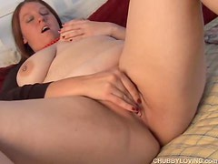 Beautiful BBW has pierced nipples