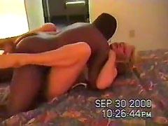 He films his blonde wife with a black guy