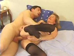 Anal hardcore for a chick in sexy stockings