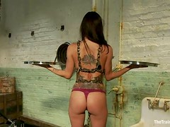 Lesbian BDSM pleasures with two lusty sirens Cherry and Gia