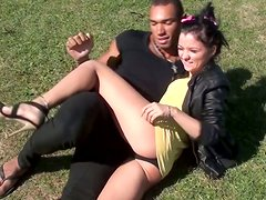 Playful Russian chics shows off their panties in upskirt scenes