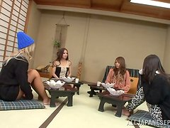 Busty Japanese orange chick is getting fucked