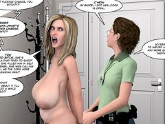 3D porn comics in HD with big ass blonde