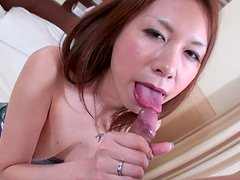 Spoiled hussy HIROMI gives tit fuck with oversized boobs