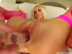 Adorable and skinny blonde has ass savaged