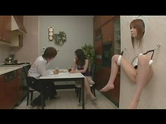 Couple has Japanese girl in their wall to play with