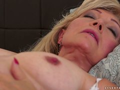Blonde granny gets her old pussy fucked hard and deep