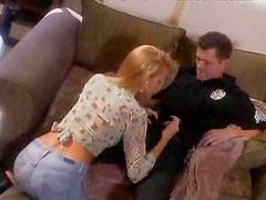 Cop drills a super hot blonde chick