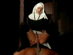 Nun nailed in the ass by black priest