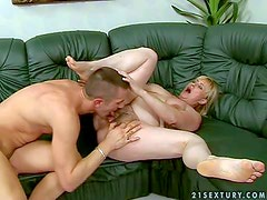 Mature short haired fat blonde whore Beverly with bog natural
