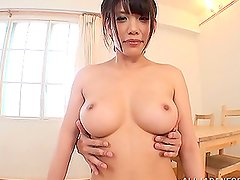 Busty Risa Murakami gives an amazing titjob in POV video