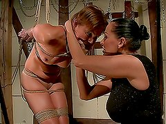 Mandy Bright and Szilvia Lauren go crazy while playing lesbian games