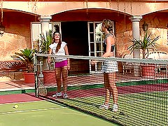 Cate and Natali play tennis and explore each other's holes