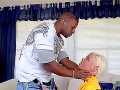 Jordan Blue deepthroats a BBC before taking it in her nice pussy
