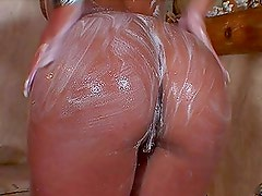 Sarah James gets her clean pussy licked and fucked deep and hard