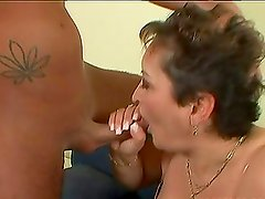 Marica the cum hungry mature babe ride a cock and swallows